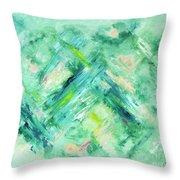 Abstract Green Blue Throw Pillow