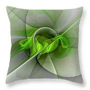 Abstract Green Fractal Art Throw Pillow
