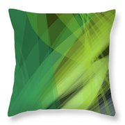 Abstract Green Vector Background Banner, Transparent Wave Lines  Throw Pillow
