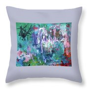 Abstract Greens Throw Pillow