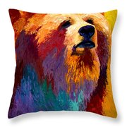 Abstract Grizz Throw Pillow