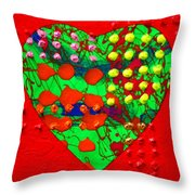 Abstract Haert 80218 Throw Pillow