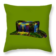Abstract Hat For All Throw Pillow