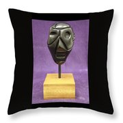 Abstract Head Throw Pillow