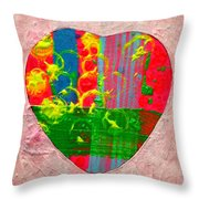 Abstract Heart 310118 Throw Pillow