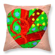 Abstract Heart 40218 Throw Pillow
