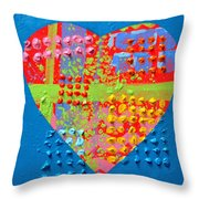 Abstract Heart 50218 Throw Pillow