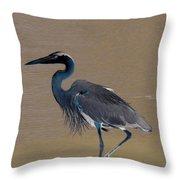 Abstract Heron Art Throw Pillow
