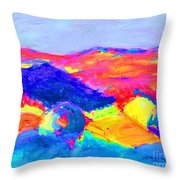 Abstract Hills Throw Pillow