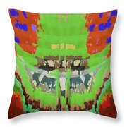 Abstract Holistic Vallely Graphic Painting Inspiration From Sargada Temple  Lights N Shades Sagrada  Throw Pillow