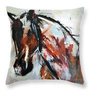 Abstract Horse 12 Throw Pillow