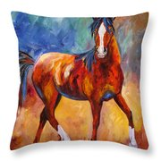 Abstract Horse Attitude Throw Pillow