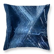 Abstract Ice. Darkness Throw Pillow