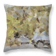 Abstract Image Of Car Passing Through A Dust Storm Throw Pillow