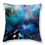 Abstract Improvisation Throw Pillow by Wolfgang Schweizer