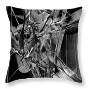 Abstract In Black And White 2 Throw Pillow