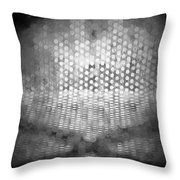 Abstract In Black And White Throw Pillow