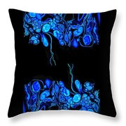 Abstract In Blue 2 Throw Pillow