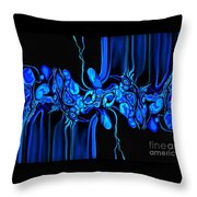 Abstract In Blue 3 Throw Pillow