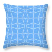 Abstract In Blue Throw Pillow