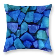Abstract In Glass Throw Pillow