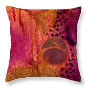 Abstract In Gold And Plum Throw Pillow