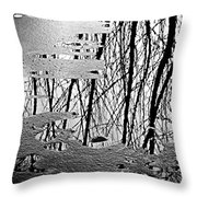 Abstract In Ice Throw Pillow