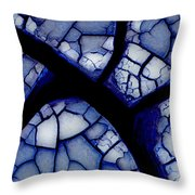 Abstract In Mud 1.1 Throw Pillow