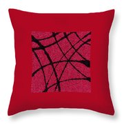 Abstract In Red And Black Throw Pillow