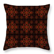 Abstract In Red Throw Pillow