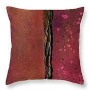 Abstract In Rose And Copper Throw Pillow