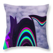 Abstract In The Clouds Throw Pillow