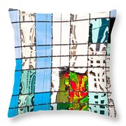 Abstract In The Windows Throw Pillow
