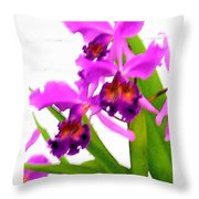 Abstract Iris Throw Pillow