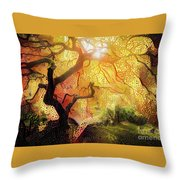 Abstract Japanese Maple Tree 2 Throw Pillow