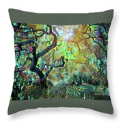 Abstract Japanese Maple Tree 3 Throw Pillow