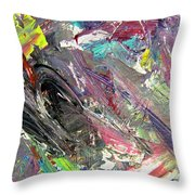 Abstract Jungle 9 Throw Pillow