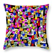 Abstract Laberinto 2 Throw Pillow