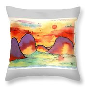 Abstract Landscape 006 Throw Pillow