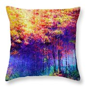 Abstract Landscape 0830a Throw Pillow