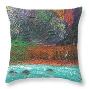Abstract Landscape 15-oo Throw Pillow