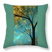 Abstract Landscape Art Passing Beauty 3 Of 5 Throw Pillow
