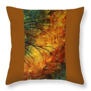 Abstract Landscape Art Passing Beauty 5 Of 5 Throw Pillow