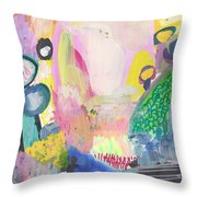 Abstract Landscape, Following The Light Throw Pillow