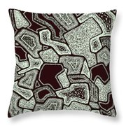 Abstract Landscape - Hand Drawn Pattern Throw Pillow