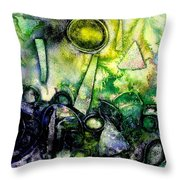 Abstract Landscape IIi Throw Pillow