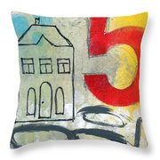 Abstract Landscape Throw Pillow by Linda Woods