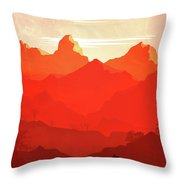 Abstract Landscape Mountain Road Art 5 - By Diana Van Throw Pillow