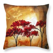 Abstract Landscape Painting Empty Nest 2 By Madart Throw Pillow