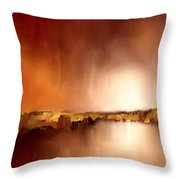 Abstract Landscape Reflection Throw Pillow